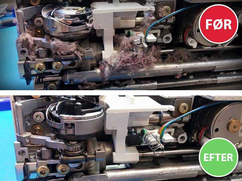 Symaskine reparation